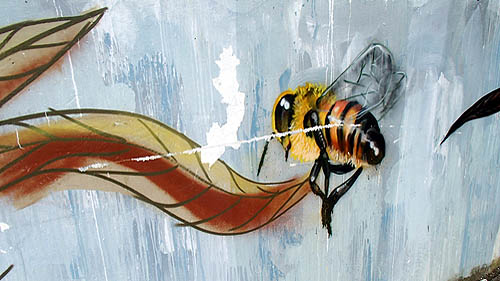 damaged artwork – bee